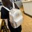 [ ลดราคา ] - กระเป๋าเป้แฟชั่น นำเข้าสไตล์เกาหลี สีดำเงา ปักหมุดสุดเท่ ดีไซน์สวยเก๋ไม่ซ้ำใคร เหมาะกับสาว ๆ ที่ชอบกระเป๋าเป้ น้ำหนักเบามากๆค่ะ thumbnail 12