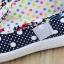 รองเท้าคัชชูเด็กหญิง สีน้ำเงิน โบว์จุด น่ารัก Size 27-32 สำหรับเด็กวัย 3-6 ปี thumbnail 4