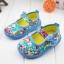 รองเท้าคัชชูผ้าหุ้มส้นเด็กหญิง ลายกุหลาบ สีฟ้า/ชมพู Size 16- 21 thumbnail 1