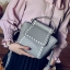 [ Pre-Order ] - กระเป๋าแฟชั่น ถือ/สะพาย สีเทาเรียบหรู ขนาดกระทัดรัด ดีไซน์สวยเรียบหรู ดูดี งานหนังคุณภาพ คุ้มค่าการใข้งาน thumbnail 1
