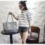 [ พร้อมส่ง ] - กระเป๋าแฟชั่น สีเทาเข้ม ทรง Shopping Bag ใบใหญ่ ดีไซน์สวยเรียบเก๋ งานหนังอย่างดีคุ้มค่าเกินราคา thumbnail 6