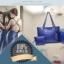 [ ลดราคา ] - กระเป๋าแฟชั่น นำเข้าสไตล์เกาหลี Set 3 in 1 สีน้ำเงิน ดีไซน์แบรนด์ดังแบบยุโรป งานหนังคุณภาพ แบบสวยเรียบหรู ดูไฮโซสุดๆน่าใช้ คุ้มค่ามากๆค่ะ thumbnail 3