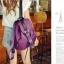 [ ลดราคา ] กระเป๋าเป้แฟชั่น นำเข้าสไตล์เกาหลี สีม่วงสุดฮิต ใบกลางสะพายหลัง ดีไซน์สวยเก๋ ผ้าร่มคุณภาพน้ำหนักเบา พกพาสะดวก เท่ๆ thumbnail 5