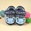 รองเท้าเด็กอ่อนหุ้มส้น หมีสีฟ้า ลายสก๊อตกรมท่า thumbnail 1