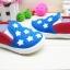 คัชชูผ้าเด็ก ลายดาวธงอเมริกาเท่ๆ ใส่สบาย Size 16-20 thumbnail 3