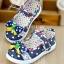 รองเท้าคัชชูเด็กหญิง สีน้ำเงิน โบว์จุด น่ารัก Size 27-32 สำหรับเด็กวัย 3-6 ปี thumbnail 1