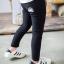กางเกงเลคกิ้งขายาว สีดำ ปักลายสายรุ้งน่ารัก ติดกระเป๋าด้านหลัง thumbnail 1