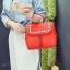 [ ลดราคา ] - กระเป๋าแฟชั่น นำเข้าสไตล์เกาหลี สีแดงโดดเด่น ปักหมุดขอบ ทรง Retro เก๋ๆ ดีไซน์สวยเท่ๆ แบบเก๋มากๆ เหมาะสำหรับสาวๆ ชอบงานดีไซน์ ล้ำๆ thumbnail 18