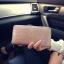 [ พร้อมส่ง ] - กระเป๋าสตางค์แฟชั่น สไตล์เกาหลี ใบยาว หนังปั้มลายดอกไม้ทั้งใบ แบบซิปรูดปิดรอบทั้งใบ thumbnail 9