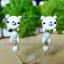 ต่างหูดินปั้น หมีขาว White bear Earrings thumbnail 1