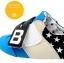 รองเท้าคัชชูผ้าเด็กเท่ห์ๆ B.boy ดาวธงอเมริกา สีฟ้าเทาดำ Size 21-32 thumbnail 10