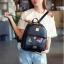 [ Pre-Order ] - กระเป๋าเป้แฟชั่น Set 3 ชิ้น สุดคุ้ม สีดำคลาสสิค เย็บแต่งผีเสื้อเก๋ๆ ดีไซน์สวยเก๋ งานหนังคุณภาพอย่างดี thumbnail 8