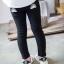 กางเกงเลคกิ้งขายาว สีดำ ปักลายสายรุ้งน่ารัก ติดกระเป๋าด้านหลัง thumbnail 5