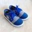 รองเท้าคัชชูผ้า แฟชั่นเด็กชาย สีน้ำเงิน Size 27-32 thumbnail 1