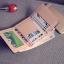 [ พร้อมส่ง ] - กระเป๋าสตางค์แฟชั่น สไตล์เกาหลี ใบเล็ก หนังนิ่มน้ำหนักเบา พกพาสะดวก แบบ 3 พับ กระดุมปิด thumbnail 30