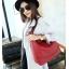 [ ลดราคา ] - กระเป๋าแฟชั่น สะพายไหล่ สไตล์เกาหลี สีไวน์แดงเข้ม ใบใหญ่ ดีไซน์สวยเรียบหรู ดูดี งานหนังคุณภาพ หมาะทุกโอกาสการใช้งาน thumbnail 8