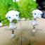 ต่างหูกระต่ายลอปสีขาว Bunny Lop white Earrings thumbnail 3