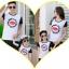 เสื้อครอบครัว - เสื้อยืดแฟชั่นสีขาวลายปาก ต่อแขนสั้นสีดำ thumbnail 4
