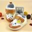 รองเท้าคัชชูผ้าเด็กอ่อน สีน้ำตาลรูปกระต่ายยิ้ม Size 14 thumbnail 1