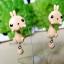 ต่างหูดินปั้น กระต่ายคาราเมล Bunny caramel Earrings thumbnail 3