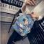 [ Pre-Order ] - กระเป๋าเป้แฟชั่น นำเข้าสไตล์เกาหลี สีโทนดำเทา พิมพ์ลายหนังแบบสาน ทรงเก๋ ๆ ใบกลางสะพายหลัง มีช่องใส่เยอะ หนังคุณภาพสวย น่ารักมากๆค่ะ thumbnail 7
