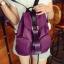 [ ลดราคา ] กระเป๋าเป้แฟชั่น นำเข้าสไตล์เกาหลี สีม่วงสุดฮิต ใบกลางสะพายหลัง ดีไซน์สวยเก๋ ผ้าร่มคุณภาพน้ำหนักเบา พกพาสะดวก เท่ๆ thumbnail 2