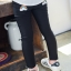 กางเกงเลคกิ้งขายาว สีดำ ปักลายสายรุ้งน่ารัก ติดกระเป๋าด้านหลัง thumbnail 2