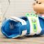 รองเท้ารัดส้นเด็กวัยหัดเดิน สีฟ้าขาวปิดปลายนิ้วเท้ากันชน Size 15-18 thumbnail 5