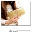 [ พร้อมส่ง ] - กระเป๋าสตางค์แฟชั่น สไตล์เกาหลี สีบรอนซ์ทอง ใบยาว หนัง Saffiano แต่งโลโก้ สไตล์แบรนด์ดัง งานสวยโดดเด่น น่าใช้มากๆค่ะ thumbnail 7