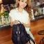 [ ลดราคา ] - กระเป๋าเป้แฟชั่น นำเข้าสไตล์เกาหลี สีน้ำเงินเข้ม ใบกลางสะพายหลัง ดีไซน์สวยเก๋ ผ้าร่มคุณภาพน้ำหนักเบา พกพาสะดวก เท่ๆ thumbnail 21