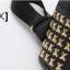 [ ลดราคา ] - กระเป๋าเป้แฟชั่น สไตล์เกาหลี สีดำคลาสสิค ไซส์ MINI ปักหมุดเก๋ๆ ดีไซน์สวยเท่ๆ เหมาะสำหรับสาวๆ ที่ชอบเป้ใบเล็กกระทัดรัด เท่ๆ โดดเด่นไม่ซ้ำใคร thumbnail 5