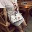[ Pre-Order ] - กระเป๋าแฟชั่น ถือสะพาย สีขาวครีม ทรง Retro สุดแนว ดีไซน์สวยเก๋ๆ เท่ๆ แอบเปรี้ยว ดูดี โดดเด่นไม่ซ้ำใคร thumbnail 11