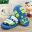 รองเท้ารัดส้นเด็กวัยหัดเดิน สีฟ้าขาวปิดปลายนิ้วเท้ากันชน Size 15-18 thumbnail 2