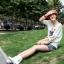 รองเท้าบู๊ทขาว สำหรับวัยใส น่ารักสไตล์เกาหลี Size 34-39 thumbnail 2