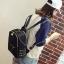 [ พร้อมส่ง HI-End ] - กระเป๋าเป้แฟชั่น สไตล์เกาหลี สีดำคลาสสิค ปักหมุดข้างสุดเก๋ ดีไซน์สวยเท่ๆ งานผ้าร่มไนลอนอย่างดี น้ำหนักเบา น่าใช้มากๆค่ะ thumbnail 9