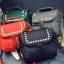 [ ลดราคา ] - กระเป๋าแฟชั่น นำเข้าสไตล์เกาหลี สีแดงโดดเด่น ปักหมุดขอบ ทรง Retro เก๋ๆ ดีไซน์สวยเท่ๆ แบบเก๋มากๆ เหมาะสำหรับสาวๆ ชอบงานดีไซน์ ล้ำๆ thumbnail 4