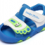 รองเท้ารัดส้นเด็กวัยหัดเดิน สีฟ้าขาวปิดปลายนิ้วเท้ากันชน Size 15-18 thumbnail 1