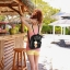 [ Pre-Order ] - กระเป๋าเป้แฟชั่น นำเข้าสไตล์เกาหลี สีแดงเข้ม แต่งหัวเข็มขัดช่องใส่ของด้านหน้า ดีไซน์สวยเก๋ ที่สาวๆ ไม่ควรพลาด thumbnail 9