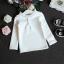 เสื้อกันหนาวแขนยาว สีขาว คอกลมเย็บปักผ้าเป็นระบาย สำหรับคุณหนูตัวน้อย thumbnail 5