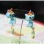 ต่างหูดินปั้น ม้ายูนิคอร์นสีฟ้า Blue unicorns thumbnail 1