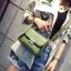 [ Pre-Order ] - กระเป๋าแฟชั่น ถือ/สะพาย สีเขียว ทรงสี่เหลี่ยม ใบเล็กกระทัดรัด ดีไซน์สวยเรียบหรู ดูดี งานหนังคุณภาพ คุ้มค่าการใข้งาน thumbnail 3