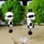 ต่างหูดินปั้น กระต่ายสีขาวแต้มดำ Bunny black & whiteEarrings thumbnail 1