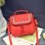 [ ลดราคา ] - กระเป๋าแฟชั่น นำเข้าสไตล์เกาหลี สีแดงโดดเด่น ปักหมุดขอบ ทรง Retro เก๋ๆ ดีไซน์สวยเท่ๆ แบบเก๋มากๆ เหมาะสำหรับสาวๆ ชอบงานดีไซน์ ล้ำๆ thumbnail 11