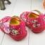 รองเท้าคัชชูผ้าหุ้มส้นเด็กหญิง ลายกุหลาบ สีฟ้า/ชมพู Size 16- 21 thumbnail 11