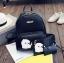 [ พร้อมส่ง ] - กระเป๋าเป้แฟชั่น Set 3 ชิ้น สุดคุ้ม สีดำคลาสสิค ตกแต่งน้องแมวน้อย ดีไซน์สวยเก๋ งานหนังคุณภาพอย่างดี น่าใช้มากค่ะ thumbnail 2