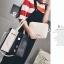 [ ลดราคา ] - กระเป๋าแฟชั่น Set 2 ชิ้น ถือ&สะพาย สีทรีโทนขาวเทาดำ ใบกลางๆ ดีไซน์สวยเก๋ ปรับใช้งานได้หลายสไตล์ thumbnail 7