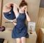 Denim Dress ชุดเดรสยีนส์ แขนสั้น thumbnail 5