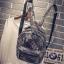 [ Pre-Order ] - กระเป๋าเป้แฟชั่น นำเข้าสไตล์เกาหลี สีโทนดำเทา พิมพ์ลายหนังแบบสาน ทรงเก๋ ๆ ใบกลางสะพายหลัง มีช่องใส่เยอะ หนังคุณภาพสวย น่ารักมากๆค่ะ thumbnail 1