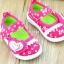 รองเท้าคัชชูเด็กหญิง สีชมพูสดใสน่ารัก มีเสียงเวลาเดิน Size 15-20 สำหรับเด็กวัย 1-2 ปี thumbnail 4