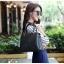 [ พร้อมส่ง ] - กระเป๋าแฟชั่น ถือ/สะพาย สีดำสุดหรู ทรงตั้งได้ ดีไซน์สวยเรียบหรู ดูดี งานหนังอัดลายคุณภาพ เหมาะทุกโอกาสการใช้งาน thumbnail 4